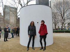Artists create massive camera obscura in New York City park