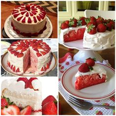 Whipped cream and cream cheese frosting sounds amazing and adding fresh strawberries to the cake mix and for decorations is fabulous!   Strawberry Creamy Cake recipe--> http://wonderfuldiy.com/wonderful-diy-strawberry-creamy-cake/