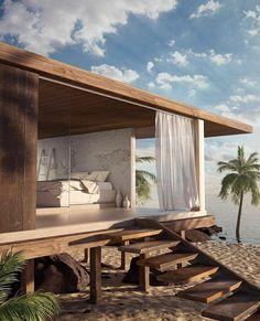 Cabana, Architecture Design, Build Your House, Villa, Hidden Places, Relax, Outdoor Furniture, Outdoor Decor, Modern Furniture