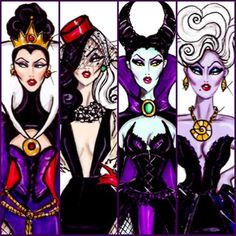 The Disney Diva Villainess collection by Hayden Williams