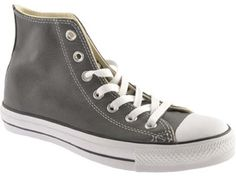 Converse Chuck Taylor All Star High Tops in Leather, Charcoal  -  CLICK TO GET 20% OFF WITH COUPON CODE!