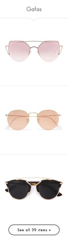 """Gafas"" by selenaaaaaaaaaaaa8 ❤ liked on Polyvore featuring accessories, eyewear, sunglasses, glasses, pale gold, uv protection sunglasses, pink glasses, metal frame sunglasses, uv protection glasses and pink lens sunglasses"