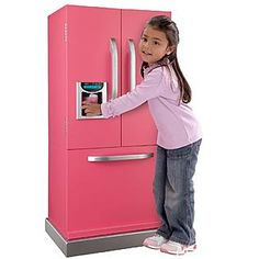 Kids, Toddlers, Interactive Pretend Play Toy Refrigerator with Real Ice Maker Set Little Girl Toys, Cool Toys For Girls, Baby Girl Toys, American Girl Doll Sets, Baby Doll Nursery, Build A Playhouse, Baby Doll Accessories, Baby Alive, Toy Kitchen