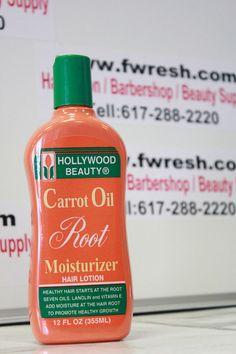 Hollywood Beauty Carrot Oil Root Moisturizer Hair Lotion 12Oz
