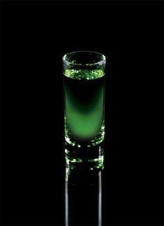 Halloween Drink - Cuervo Green Ghoul Shooter