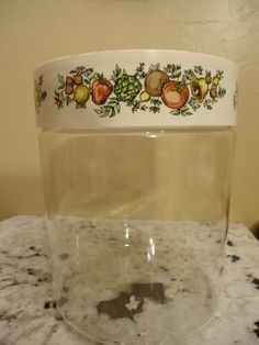 Vintage Pyrex Spice of Life Tall Jar Canister by NibblesOfNosh
