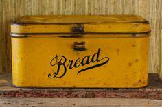 Antique Metal Bread Box Vintage Empeco Shabby by VandyleeVintage