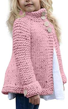Cheap kids cardigan, Buy Directly from China Suppliers:Girl's plain-coloured knit sweater cardigan MUQGEW Toddler Kids Baby Girls Outfit Clothes Button Knitted Sweater Cardigan Coat Free Baby Sweater Knitting Patterns, Knit Baby Sweaters, Knitting For Kids, Easy Knitting, Knit Patterns, Free Childrens Knitting Patterns, Baby Knits, Magia Do Crochet, Toddler Sweater