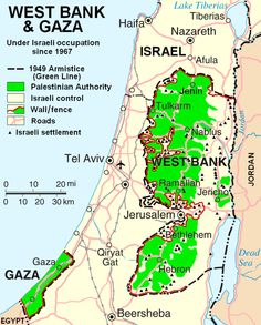 Westjordanland und Gaza ◆Westjordanland – Wikipedia http://de.wikipedia.org/wiki/Westjordanland #West_Bank