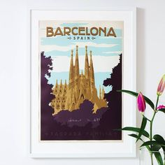 'barcelona' travel poster by i heart travel art. | notonthehighstreet.com