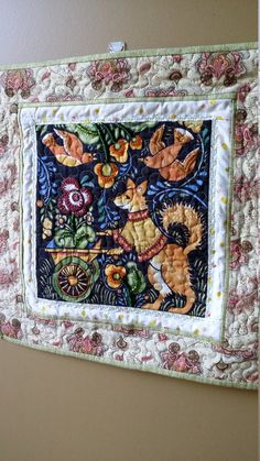 Art Quilt Country Fox Wallhanging Bohemia by Julie by djwquilts