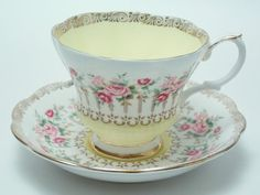 Royal Albert Green Park Series Yellow Pink by TheVintageFind1