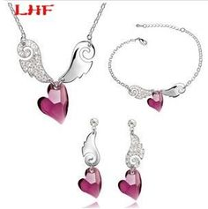 925 Silver Store Fashion Crystal Jewelry Sets Make With Elements Necklace Earrings Bangles Branded Design 18K White Gold Plated with 925 sterling silver jewelry for women necklaces. High Quality Product. High Polished / Fine Workmanship. Never Fade / Scratchproof and Anti - Allergy. Pack with Beautiful Bag as a Gift. Size info is estimate, if concern, Please leave me message.