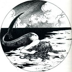 "fish-tails-siren-scales: "" "" Milo Manara "" """
