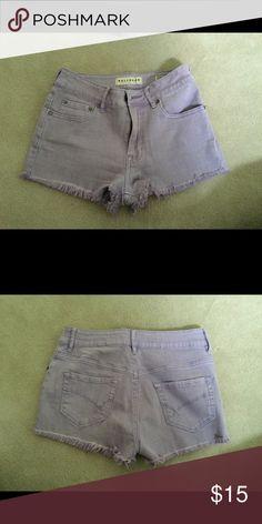 Bullhead purple cut offs Light purple cut off denim shorts with button closure Bullhead Shorts