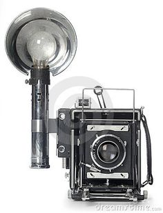 Image result for large old flashbulb paparazzi camera