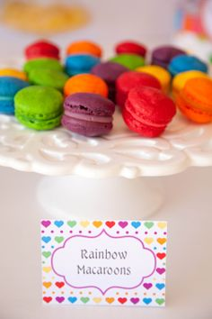 Rainbow Themed Blank Buffet / Food Labels by JoStudioPartyPaperie, $7.00