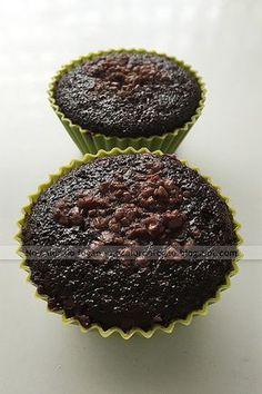 Cupcake de beterraba com chocolate