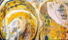 'Long walk home'   Mixed media on canvas  Jessica Breakwell
