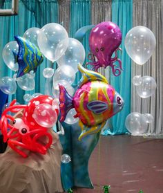 """An """"Under the Sea"""" themed party."""