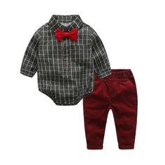 Baby Boy Clothes Newborn Clothing Sets Broadcloth Cotton Gentleman – 10MINUS