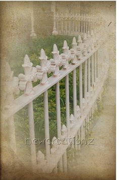 Whimsical print victorian iron fence 6 x 4 by NewCreatioNZ on Etsy, $9.00
