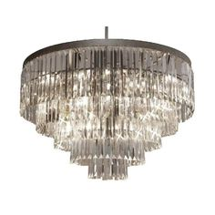 Odeon Crystal Glass 17-light 5-tier Contemporary Chandelier | Overstock.com Shopping - The Best Deals on Chandeliers & Pendants