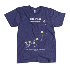 The Play Shirt $30 The Play refers to a last-second kickoff return during a college football game between the University of California Golden Bears and the Stanford Cardinal on Saturday, November 20, 1982. Given the circumstances and rivalry, the wild game that preceded it, the very unusual way in which The Play unfolded, and its lingering aftermath on players and fans,it is recognized as one of the most memorable plays in college football history and among the most memorable in American…