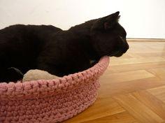 Handmade crochet pet bed cat basket gift for cat от MariAnnieArt
