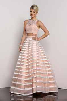 A stunning 2 piece Prom Dress from Xcite Prom by Impression