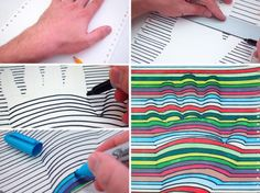 Man Crafts: easy optical art with office supplies