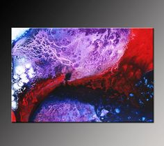 Abstract Painting Abstract Art White Red Purple Violet Indigo Blue Large Contemporary Affordable Fine Art by Viviana Fleing