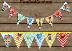 Daniel Tiger's Neighborhood birthday name banner by FunandCustom