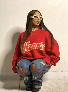 Cute Swag Outfits, Chill Outfits, Mode Outfits, Retro Outfits, Trendy Outfits, Tomboy Fashion, Streetwear Fashion, Teen Fashion, Fashion Outfits