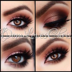 love this warm looking smokey eye makeup