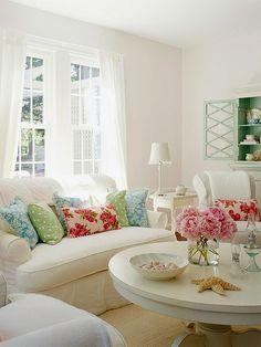 frische deko ideen wohnzimmer grün weiß