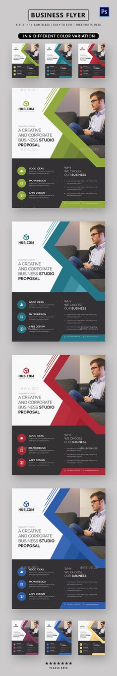 Business Flyer by Dhvxsyn Modern, Elegant and Professional Work Business Flyer template in Photoshop Formet, This template is setup as a 8.5×11 Inches. Phot