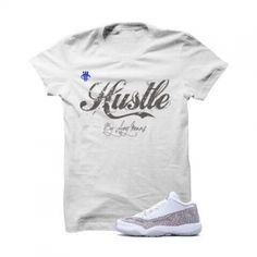 Hustle By Any Means Jordan 11 IE Low Cobalt White T Shirt. The Hustle By 8fd991301