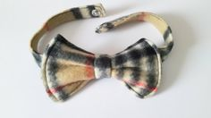 Ready for the Holidays?  Pet Bow Tie Plaid Fleece, Dog Bow tie, Cat Bow tie ideal for special occasions