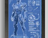 Iron Man Mark 2 Suit Blueprints 16x24