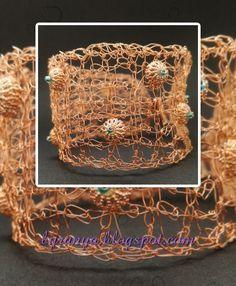 Tunisian Crochet Wire Bracelet