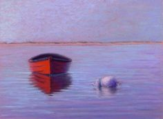 Morning Rowboat Cape Cod Art by Poucher, painting by artist Nancy Poucher