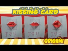Valentine's day - DIY Origami kissing lips & Secret Message - Pop up Card - YouTube