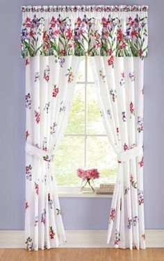 Floral Orchid Curtain Collection