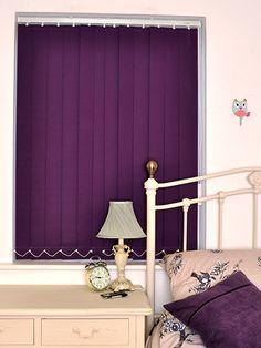 Purple Vertical Blackout Blinds