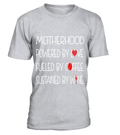 Motherhood Powered By Love Fueled By Coffee T-shirt Tee Funny Poker T-shirt, Best Poker T-shirt