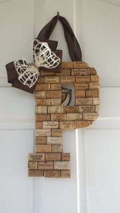 Personalized Wine Cork Letters, Custom Wine Cork Crafts, Wine Corks, Wine Cork Monogram, Wine Cork Wall Decor, Wine Cork Letters by ADCMDesign on Etsy https://www.etsy.com/listing/287869715/personalized-wine-cork-letters-custom