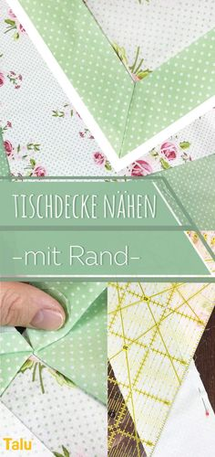 Sewing tablecloth with edge - instructions & tips on size - DIY Nähen - Easy Sewing Beginner Knitting Projects, Diy Sewing Projects, Sewing Projects For Beginners, Knitting For Beginners, Sewing Hacks, Sewing Tutorials, Sewing Patterns, Sewing Tips, Techniques Couture