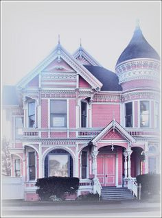 Sugar House - Pink House, M Street, Eureka - love the photography