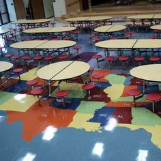 round school lunch table. A Mix Of Round And Oval Shaped, Stool Cafeteria Tables Help Maximize Your Lunch Room School Table